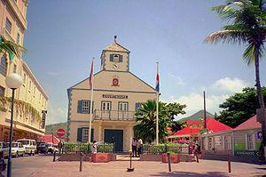 Sint Maarten - The Courthouse in Philipsburg is one of the symbols of Sint Maarten.