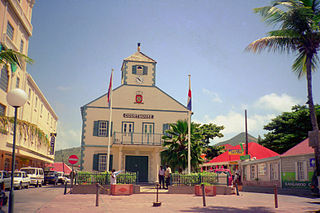 The Courthouse in Philipsburg is one of the symbols of Sint Maarten.