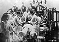 Photograph; Rudolf Virchow observing an operation, Berlin. Wellcome L0003782.jpg