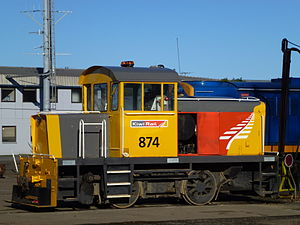 New Zealand TR class locomotive - Hillside NZR built TR 874 at Dunedin in 2013.