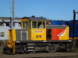 New Zealand TR class locomotive - Hillside NZR built TR 874 at Dunedin in 2013.