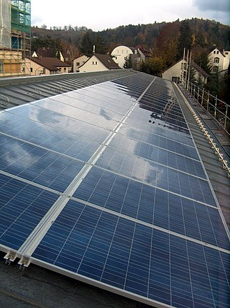Rooftop photovoltaic power station - Image: Photovoltaikanlage