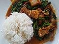 Phrik khing fried crispy pork with rice - Chiang Mai - 2017-07-09.jpg