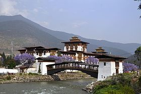 Image illustrative de l'article Pont cantilever de Punakha