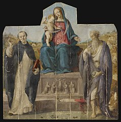 Virgin and Child with Saints Vincent Ferrer andJerome