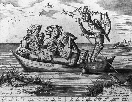 Pieter van der Heyden - Ship of Fools (Die blau schuyte) - WGA11410