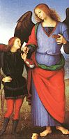 Pietro Perugino - Tobias with the Angel Raphael - WGA17352.jpg