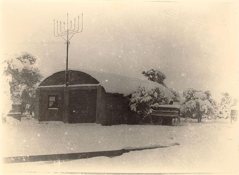 גשר הזיו בשלג 1952