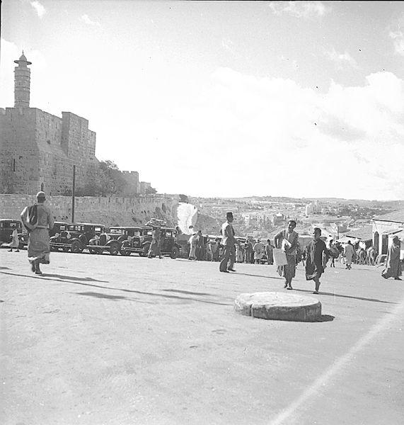 שער יפו ומגדל דוד, 1934