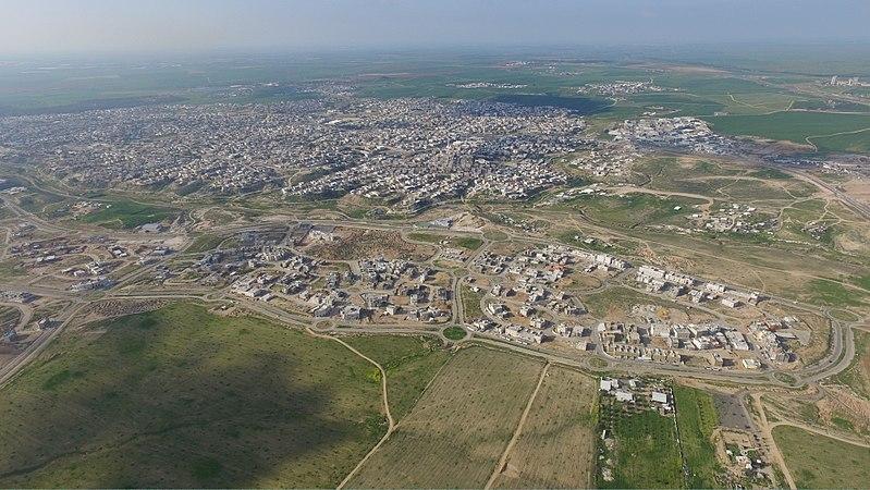 צילום מהאוויר לעיר רהט