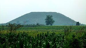 Emperor Zhao of Han - Pingling, tomb of Emperor Zhao, in Xianyang, Shaanxi