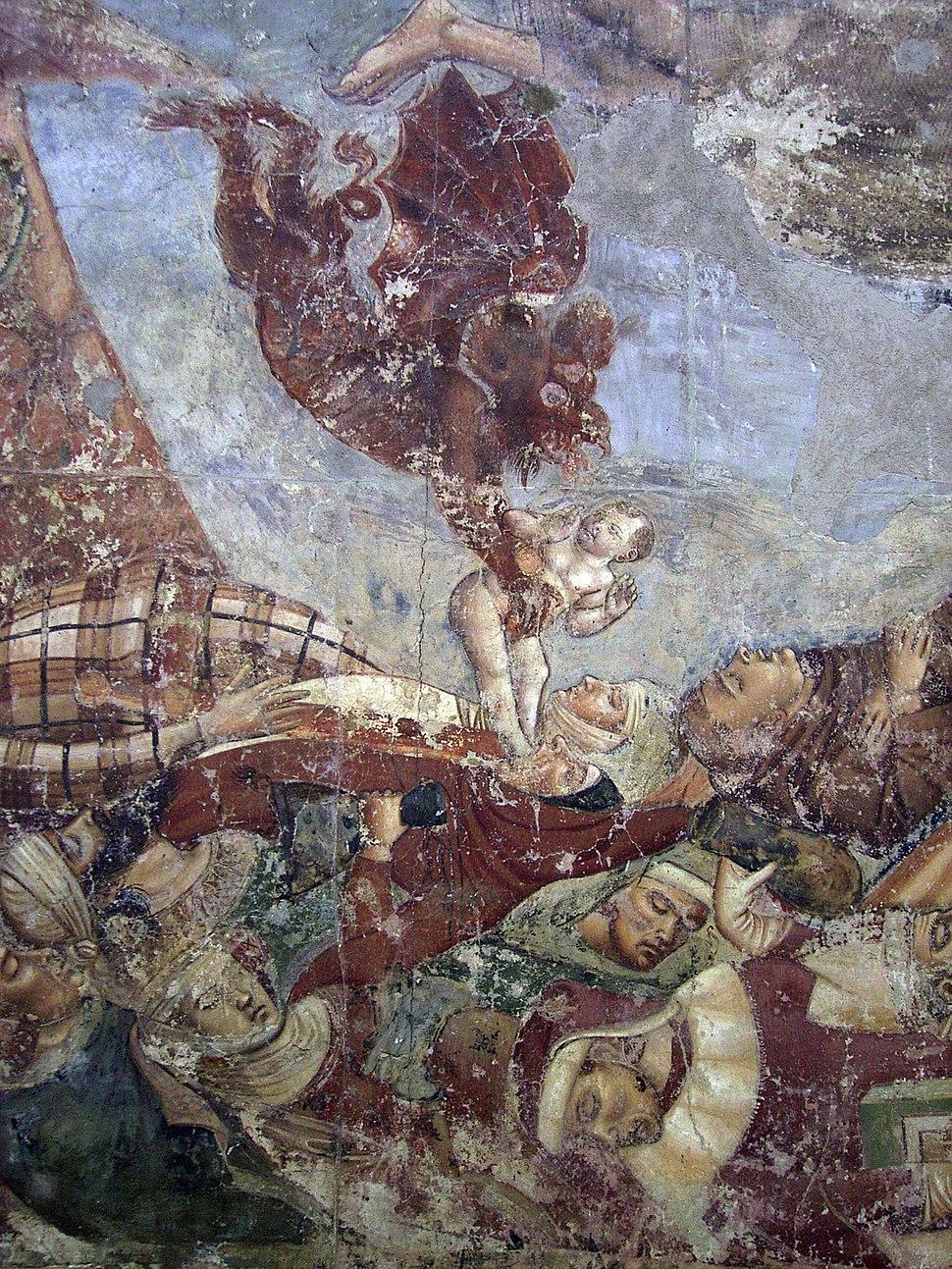 Pisa, Camposanto trionfo della morte 18 a devil stealing a soul