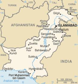 Pakistan - Mappa