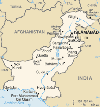 Politics of Pakistan - The Map of Pakistan