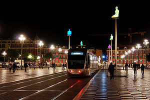 Place Massena by night