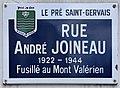 Plaque Rue André Joineau - Le Pré-Saint-Gervais (FR93) - 2021-04-28 - 1.jpg