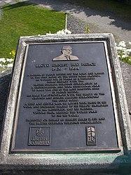 Plaque in Sunken Gardens in Prince Rupert, British Columbia.jpg