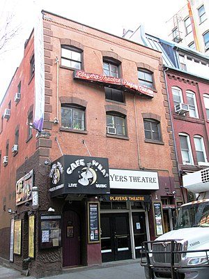 MacDougal Street - No. 115, The Players Theatre and Cafe Wha? in 2015