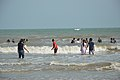 Playful People with Sea Waves - New Digha Beach - East Midnapore 2015-05-01 8689.JPG