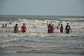 Playful People with Sea Waves - New Digha Beach - East Midnapore 2015-05-01 8829.JPG
