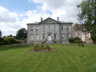 George Treby (judge) - Plympton House, Plympton St Maurice, south front. Building commenced by Sir George Treby (d.1700) but unfinished at his death