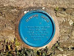 Photo of Plympton Castle and Baldwin de Redvers black plaque