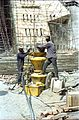 Pneumatic Concrete Placer Being Used For Main Auditorium Roof Construction - Convention Centre Complex - Science City - Calcutta 1996-02-21 999.JPG