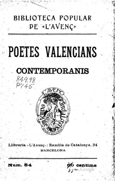 File:Poetes valencians contemporanis (1908).djvu
