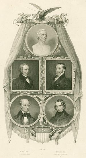 1842 in poetry - Frontispiece of Griswold's The Poets and Poetry of America, featuring images of popular poets including Richard Henry Dana, Sr., William Cullen Bryant, and Henry Wadsworth Longfellow