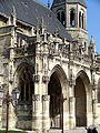 Poissy (78), collégiale Notre-Dame, porche des portails sud, côté sud-ouest.jpg