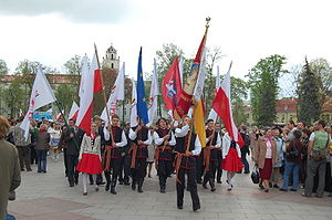 Poles in Lithuania - Polish minority in Lithuania marching in Vilnius in 2008