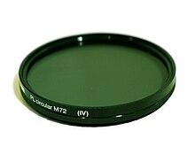 0303d66969c214 Een polarisatiefilter voor een fotocamera