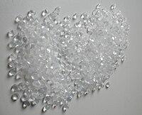 Sample of granulated polyethylene