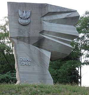 Battle of Bautzen (1945) - Monument to Polish soldiers in Crostwitz