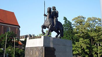 Monument to Boleslaw Chrobry in Wroclaw