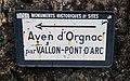 Pont d'Arc - Ancien panneau direction Aven d'Orgnac.jpg