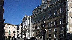 Roma, piazza sant'Apollinare - da sinistra: pa...