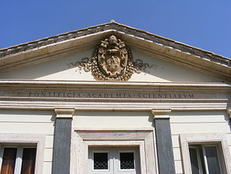 Academy of sciences - Entrance of the Pontifical Academy of Sciences.