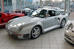 Porsche 959 silver at Auto Salon Singen