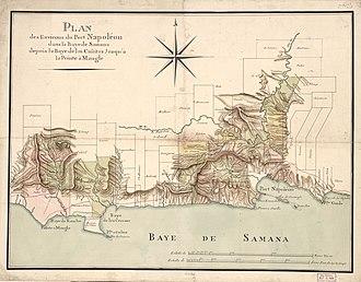Raid on Samaná - Port Napoléon in the Bay of Samana on Santo Domingo
