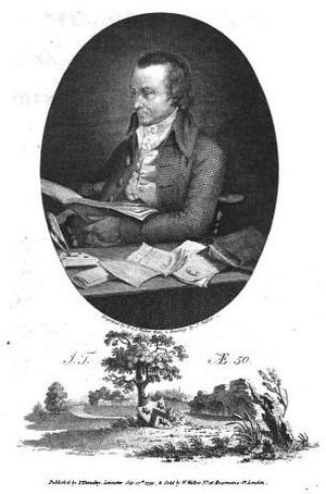 John Throsby - Portrait of John Throsby at age 50, published 1790
