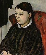 Portrait of Madame Cezanne in a Striped Robe (1882-4) Paul Cezanne.jpg
