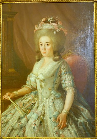 1780 in Spain - Portrait of a Woman by Agustin Esteve, Madrid, 1780-1785 AD, oil on canvas - Museo Nacional de Artes Decorativas - Madrid, Spain - DSC08322