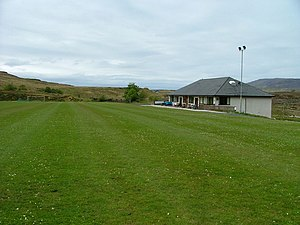 English: Portree Camanachd Ground and Clubhous...