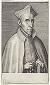 Portret van de jezuïet Franciscus Borgia Portretten van generaal oversten van de jezuïeten (serietitel) Effigies præpositorvm generalivm societatis Iesv (serietitel), RP-P-1913-2512.jpg