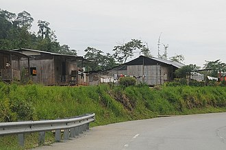 Jakun people - A typical village house for the Orang Asli.