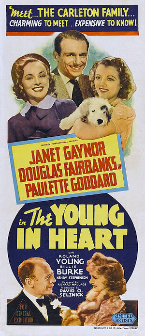 The Young in Heart - Australian theatrical release poster