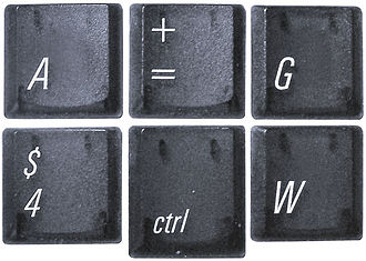 Univers - Keycaps featuring Univers from a pre-2003 PowerBook G4