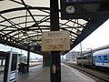 Praha hlavní nádraží, cedule na 5. nástupišti.jpg