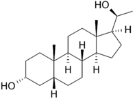 Strukturformel von Pregnandiol